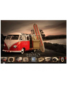 Plakat na ścianę - VW Collection VW Bus Surfboard