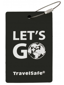 Zawieszka adresowa na bagaż Rubber Luggage ID Tag Black TravelSafe
